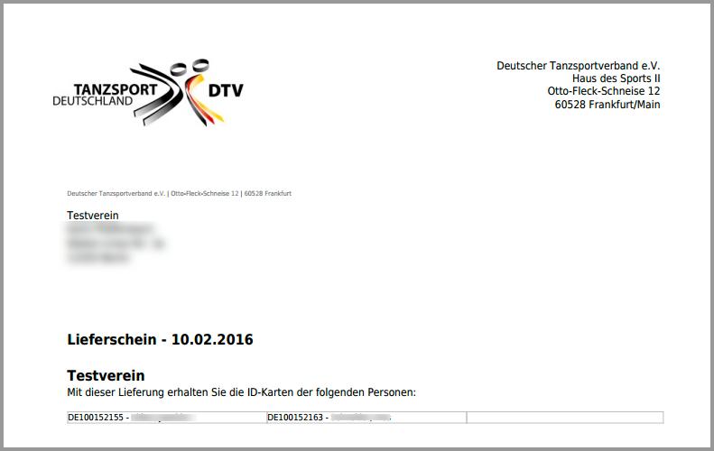 Rechnungen Einsehen Esv Tanzsport Deutschland